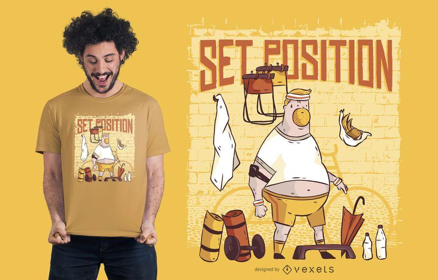 Gimnasio hombre camiseta diseño
