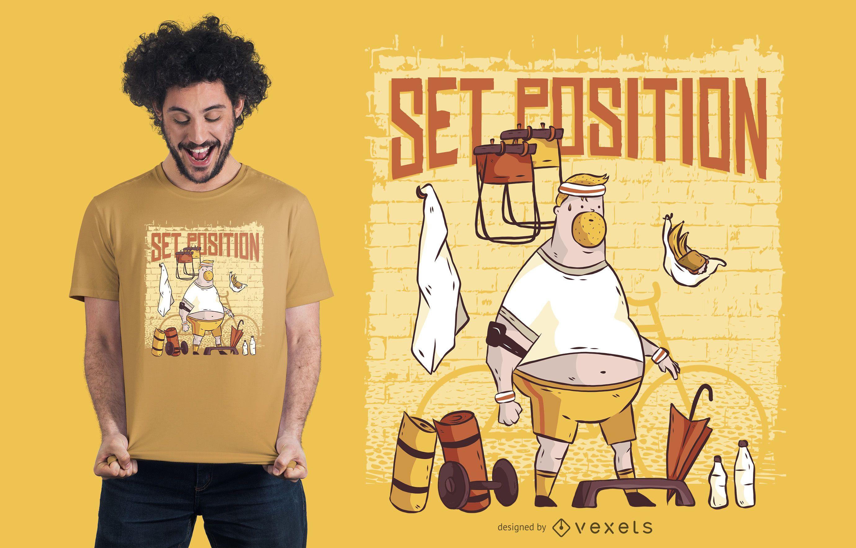 Gym Man T-shirt Design