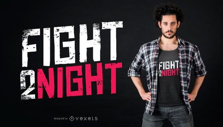 Diseño de camiseta de lucha esta noche.