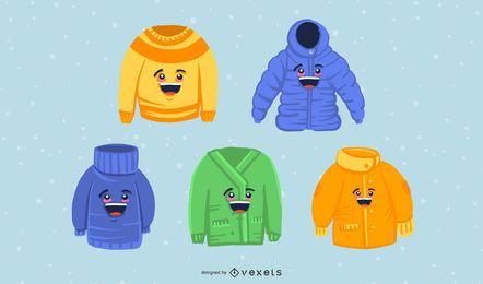 Pacote de roupas de inverno