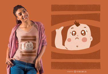 Diseño de camiseta de bebé curioso