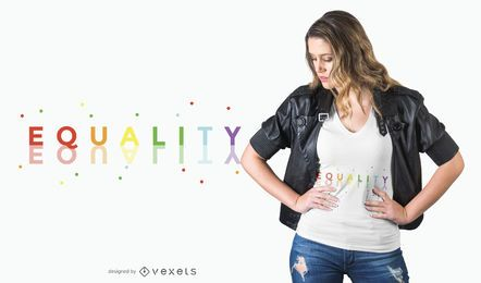 Equality rainbow t-shirt design