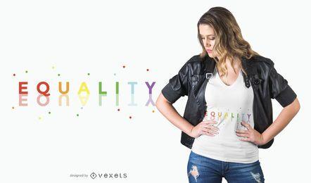 Igualdad de diseño de camiseta arcoiris.
