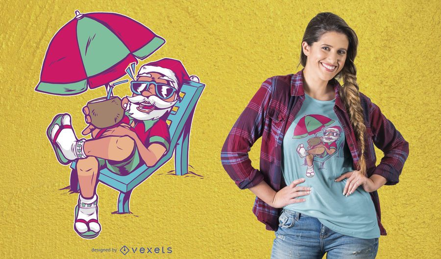 Santa vacations t-shirt design