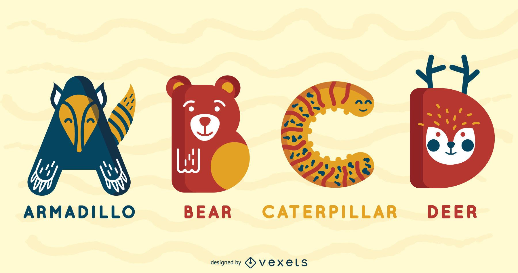 Paquete Ilustrado Alfabeto Animal ABCD