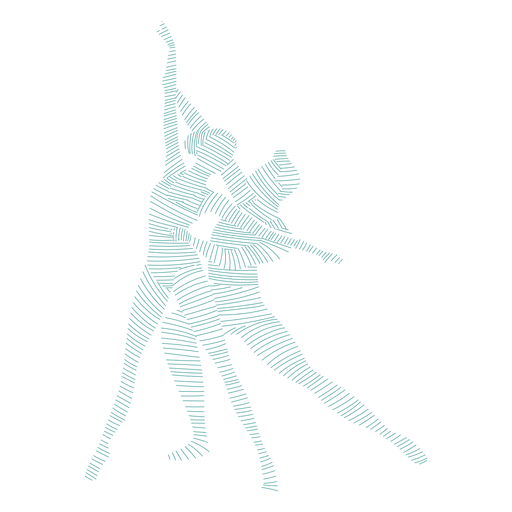 Ballerina ballet dancer pointe shoe tricot posture striped silhouette Transparent PNG