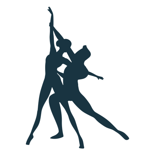 Ballerina ballet dancer posture silhouette Transparent PNG