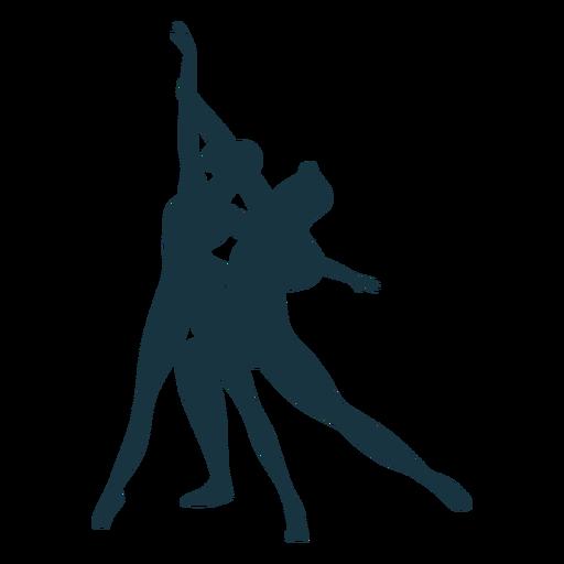 Silhueta de postura de bailarina de bailarina Transparent PNG