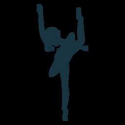 Silhueta de saia bailarina bailarina postura