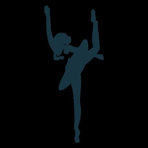 Silhueta de saia bailarina bailarina postura Transparent PNG