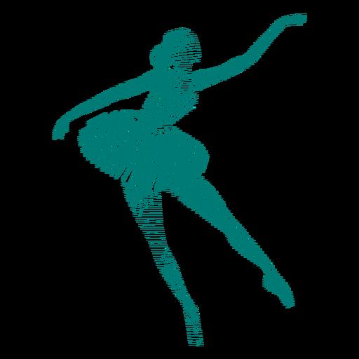 Ballerina ballet dancer posture skirt striped silhouette Transparent PNG