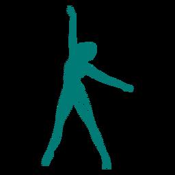 Gestreifte Silhouette des Ballerinaballett-Tänzer-Lage-Trikots