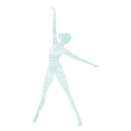 Ballerina ballet dancer posture tricot striped silhouette Transparent PNG