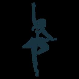 Bailarina bailarina saia pointe sapato postura silhueta