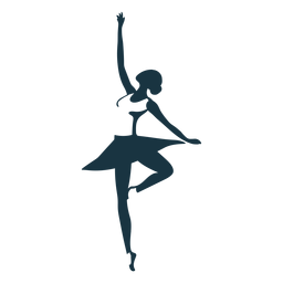 Bailarina de ballet ballet falda pointe zapato postura postura