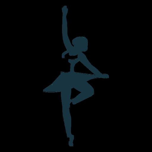 Bailarina bailarina saia pointe sapato postura silhueta Transparent PNG