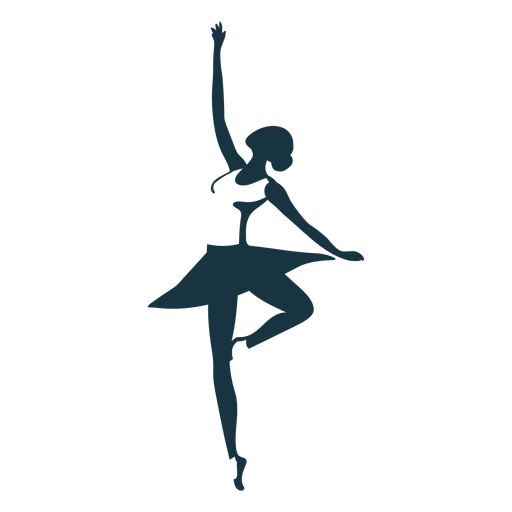 Ballerina ballet dancer skirt pointe shoe posture silhouette Transparent PNG