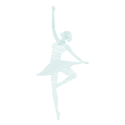 Ballerina ballet dancer skirt posture striped silhouette