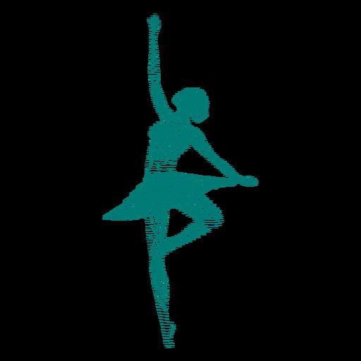 Bailarina bailarina saia postura silhueta listrada Transparent PNG