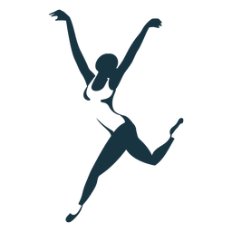 Ballerina Ballett Tänzer Trikot Spitzenschuh Haltung Silhouette