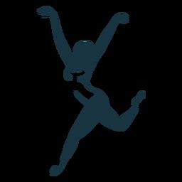 Silhueta de postura de sapato de bailarina de balé de bailarina tricot pointe
