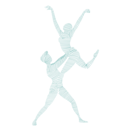 Bailarina bailarina tricot pointe sapato postura silhueta listrada