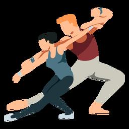 Bailarina bailarina ballet postura de tricô plana