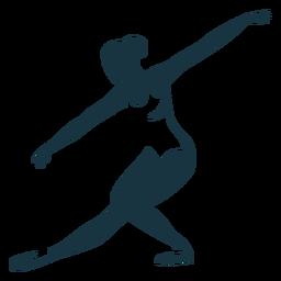 Ballerina-Balletttänzertrikot-Haltungsschattenbild