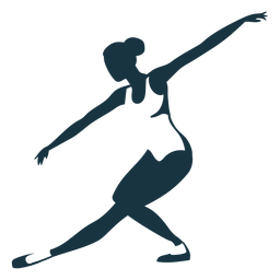 Silhueta de postura de tricot bailarina bailarina