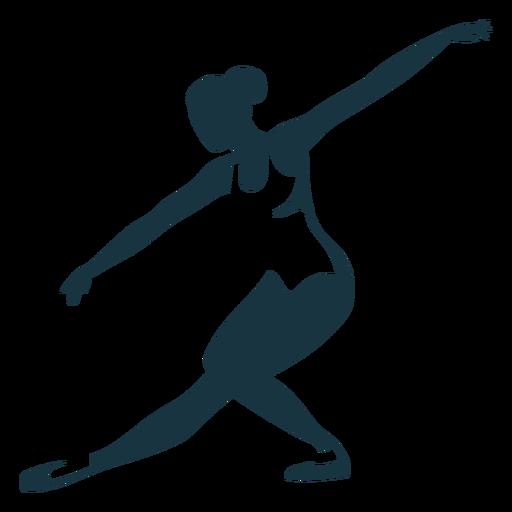 Silhueta de postura de tricot bailarina bailarina Transparent PNG