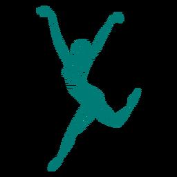 Gestreifte Silhouette der Ballerinaballett-Tänzertrikot-Haltung