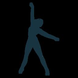 Silueta de bailarina de ballet de postura de bailarina