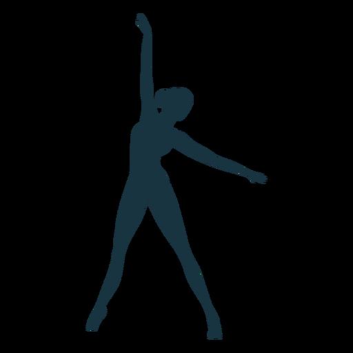 Silhueta de bailarina com postura de bailarina