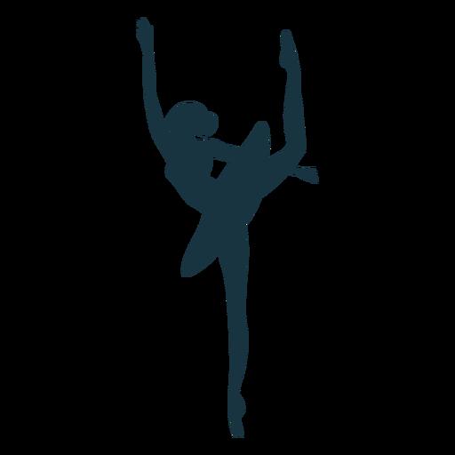 Silhueta de bailarina postura bailarina saia Transparent PNG