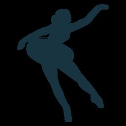 Silhueta de dançarina de bailarina de saia de postura de bailarina