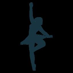 Ballerina Rock Haltung Balletttänzer Silhouette