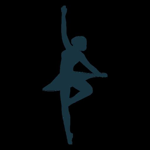Bailarina saia postura silhueta bailarina