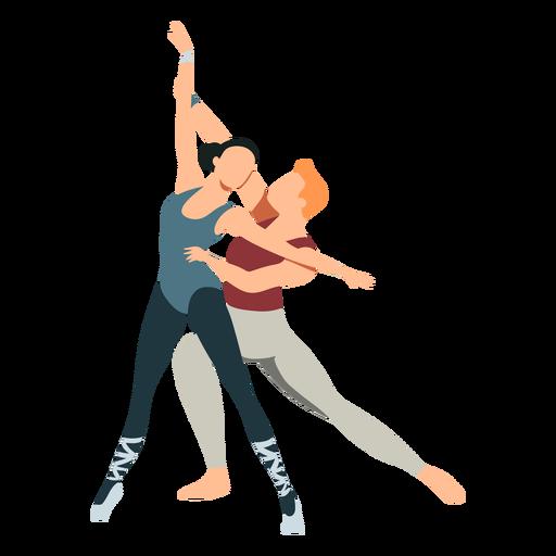 Bailarina de tricô bailarina dançarina de balé postura plana