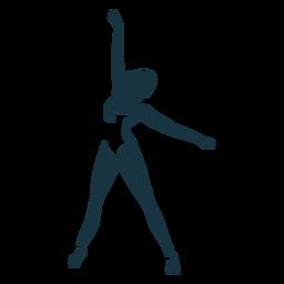 Ballerina-Trikotballetttänzer pointe Schuh-Haltungsschattenbild