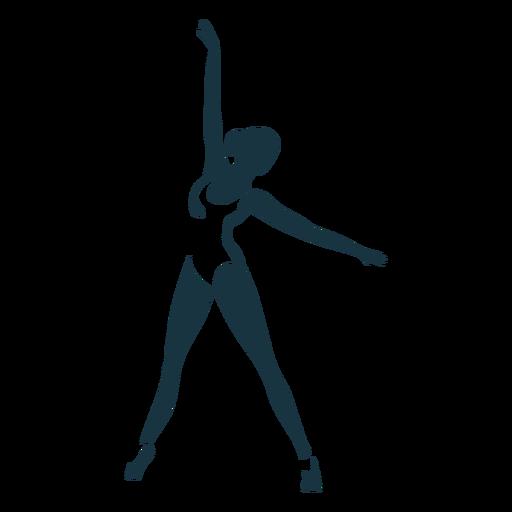 Ballerina tricot ballet dancer pointe shoe posture silhouette Transparent PNG