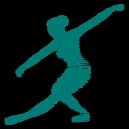 Bailarina de tricot ballet dançarina postura silhueta listrada