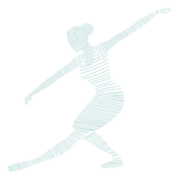 Ballerina tricot ballet dancer posture striped silhouette