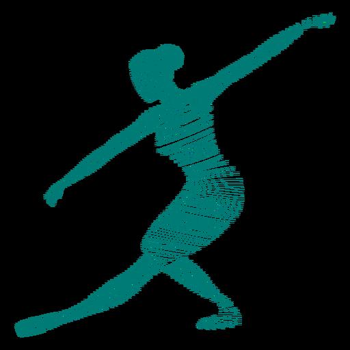 Bailarina tricot ballet bailarina postura a rayas silueta Transparent PNG