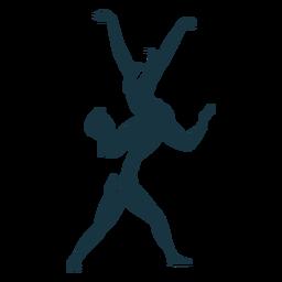 Bailarina bailarina pointe sapato postura silhueta detalhada