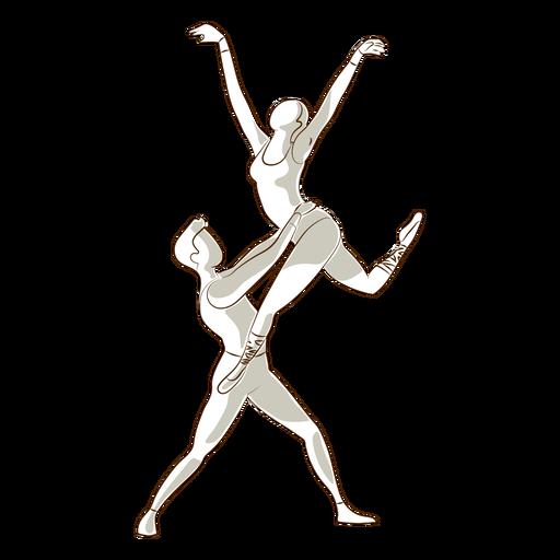 Bailarina de balé bailarina pointe sapato postura vetor de tricô Transparent PNG