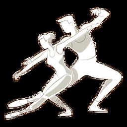Bailarina de ballet bailarina pointe zapato tricot postura vector