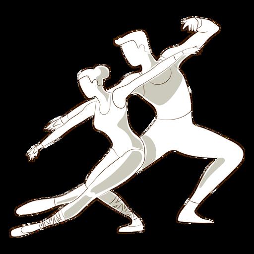 Dançarina de balé bailarina pointe sapato tricot postura vector Transparent PNG