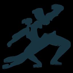Bailarina de ballet bailarina postura pointe zapato silueta detallada