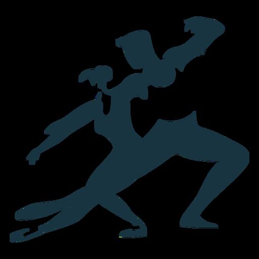 Bailarina bailarina postura pointe sapato silhueta detalhada Transparent PNG