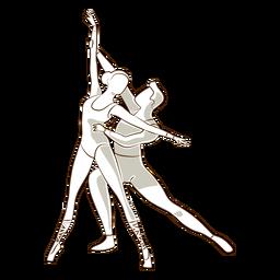 Bailarina de ballet bailarina postura pointe zapato tricot vector